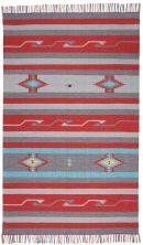 Nourison Baja Modern/Contemporary, Gry/Red 8'0″ x 10'0″ BAJ01GRYRD8X10