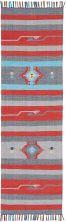 Nourison Baja Modern/Contemporary, Gry/Red 2'3″ x 7'6″ Runner BAJ01GRYRDRUNNER