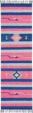 Nourison Baja Modern/Contemporary Pink/Blue 2'3″ x 7'6″ Runner BAJ01PNKBLRUNNER