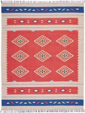 Nourison Baja Modern/Contemporary Red/Bge 8'0″ x 10'0″ BAJ02RDBG8X10
