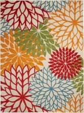 "Nourison Aloha Contemporary Green 7'10"" x 10'6″ ALH05GRN8X11"