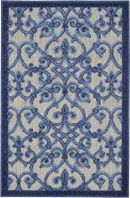 Nourison Aloha Grey/Blue 2'8″ x 4'0″ ALH21GRYBL3X4
