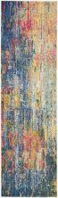 Nourison Celestial Blue/Yellow 2'2″ x 7'6″ Runner CES09BLYLLW8RUNNER