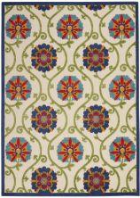 Nourison Aloha Blue/Multicolor 5'3″ x 7'5″ ALH19BLMLTCLR5X8