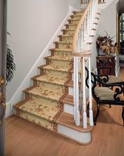 Ashton House Nourison  Ribbon Trellis A01r Black Runner BEIGE ASHTA01RBEIGE