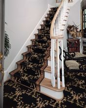 Ashton House Nourison  Ribbon Trellis A01r Beige Runner BLACK ASHTA01RBLACK