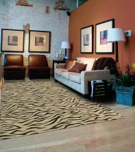 Cosmopolitan Nourison  Urban Tiger C29f Beige/Green Broadloom BEIGE 1-C29FBEIGEBR1309WV