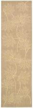 Nourison Capri Floral/Botanical Sand 2'3″ x 8'0″ Runner CAP1SNDRUNNER
