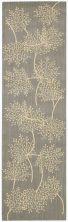 Nourison Capri Floral/Botanical Slate 2'3″ x 8'0″ Runner CAP1SLTRUNNER