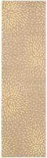 Nourison Capri Floral/Botanical, Transitional, null Beige 2'3″ x 8'0″ Runner CAP2BGRUNNER