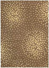 """Nourison Capri Floral/Botanical, Transitional, null Mocha 7'9″ x 10'10"""" CAP2MCH8X10"""