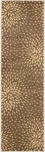 Nourison Capri Floral/Botanical, Transitional, null Mocha 2'3″ x 8'0″ Runner CAP2MCHRUNNER