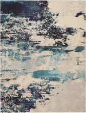 Nourison Celestial Ivory Teal Blue 9'0″ x 12'0″ CES02VRYTLBL9X12