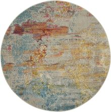 Nourison Celestial Sealife 4'0″ x 4'0″ Round CES02SLFROUND