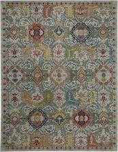 "Nourison Ankara Global Grey/Multicolor 8'11"" x 11'10"" ANR12GRYMLTCLR9X12"