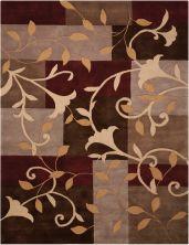 Nourison Contour Patchwork/Bohemian, Floral/Botanical, null Mocha 8'0″ x 10'6″ CON01MCH8X10