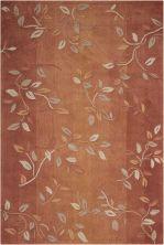 Nourison Contour Floral/Botanical, Cinnamon 8'0″ x 10'6″ CON03CNNMN8X10