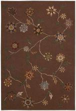 Nourison Contour Floral/Botanical Brown 8'0″ x 10'6″ CON05BRWN8X10