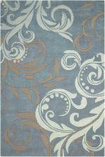 Nourison Contour Modern/Contemporary, Silver 3'6″ x 5'6″ CON09SLVR4X6