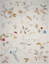 Nourison Contour Floral/Botanical, Cream 8'0″ x 10'6″ CON12CRM8X10
