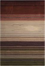 Nourison Contour Striped Forest 8'0″ x 10'6″ CON15FRST8X10