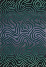Nourison Contour Modern/Contemporary, Smoke Teal 8'0″ x 10'6″ CON24SMKTL8X10