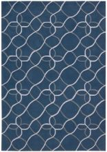 Nourison Contour Geometric, Modern/Contemporary, Denim 7'3″ x 9'3″ CON41DNM6X9
