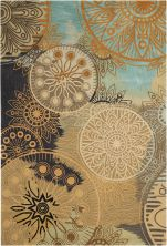 Nourison Contour Modern/Contemporary, Multicolor 8'0″ x 10'6″ CON45MLTCLR8X10