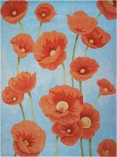 Nourison Contour Floral/Botanical, Blue 8'0″ x 10'6″ CON79BL8X10