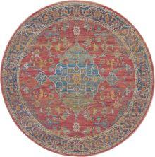 Nourison Ankara Global Multicolor 6'0″ x 6'0″ Round ANR01MLTCLR6ROUND