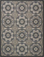 Nourison Caribbean Ivory/Charcoal 9'3″ x 12'9″ CRB15VRYCHRCL9X12
