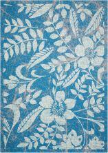 Nourison Coastal Outdoor, Floral/Botanical, null Blue 10'0″ x 13'0″ CSTL3BL10X14