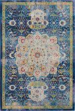 Nourison Ankara Global Blue 4'0″ x 6'0″ ANR03BL4X6