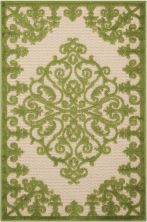 Nourison Aloha Transitional Green 2'8″ x 4'0″ ALH12GRN3X4