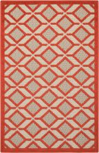Nourison Aloha Contemporary Red 2'8″ x 4'0″ ALH03RD3X4