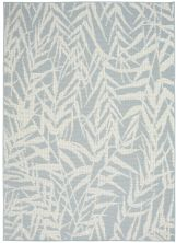 Nourison Aruba Light Blue/Cream 5'3″ x 7'3″ ARB06LGHTBLCRM5X7