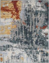 Nourison Artworks Slate/Brick 2'3″ x 0'3″ ATW03SLTBRCK2X3