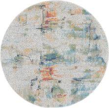 Nourison Ankara Global Ivory/Multicolor 6'0″ x 6'0″ Round ANR09VRYMLTCLR6ROUND