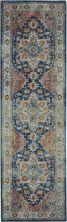 Nourison Ankara Global Blue/Multicolor 2'4″ x 8'0″ Runner ANR11BLMLTCLR8RUNNER