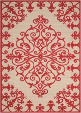 Nourison Aloha Transitional Red 5'3″ x 7'5″ ALH12RD5X8