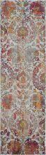 Nourison Ankara Global Ivory/Orange 2'0″ x 6'0″ Runner ANR06VRYRNG6RUNNER