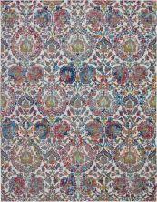 "Nourison Ankara Global Ivory/Blue 8'10"" x 11'10"" ANR06VRYBL9X12"