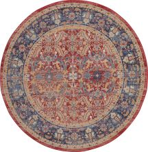Nourison Ankara Global Red 6'0″ x 6'0″ Round ANR02RD6ROUND