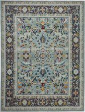 "Nourison Ankara Global Teal/Multicolor 7'10"" x 9'10"" ANR14TLMLTCLR8X10"