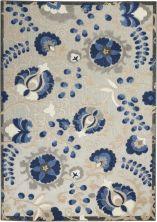 Nourison Aloha Natural/Blue 6'0″ x 9'0″ ALH17NTRLBL6X9