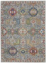 Nourison Ankara Global Grey/Multicolor 4'0″ x 6'0″ ANR12GRYMLTCLR4X6