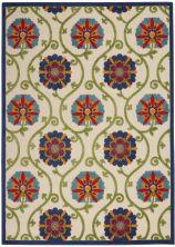 Nourison Aloha Blue/Multicolor 3'6″ x 5'6″ ALH19BLMLTCLR4X6