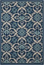 Nourison Caribbean Navy 1'9″ x 2'9″ CRB02NVY2X3