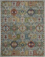 "Nourison Ankara Global Grey/Multicolor 7'10"" x 9'10"" ANR12GRYMLTCLR8X10"