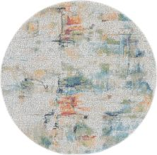 Nourison Ankara Global Ivory/Multicolor 4'0″ x 0'0″ Round ANR09VRYMLTCLR4ROUND